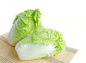 Green and white Chinese cabbage